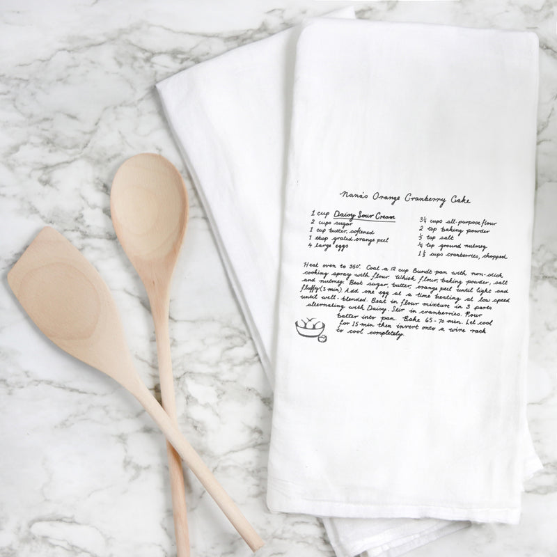 Custom Handwritten Recipe Tea Towel
