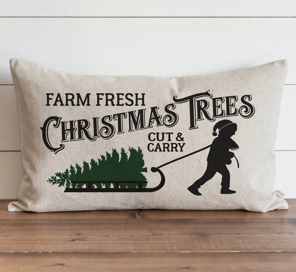 Cut & Carry Tree Farm Pillow Cover. - Porter Lane Home