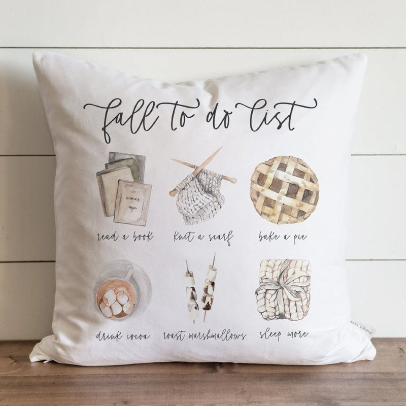 Fall To Do List Pillow Cover - Porter Lane Home