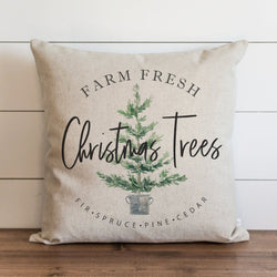 Farm Fresh Christmas Trees Pillow Cover. - Porter Lane Home