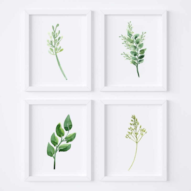 Watercolor Foliage {Style 1} Wall Art Set - Porter Lane Home