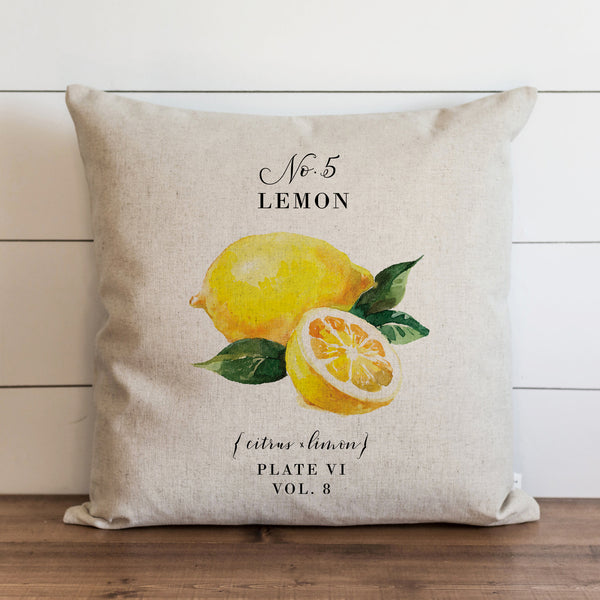 Botanical Lemon {Style 2} Pillow Cover.