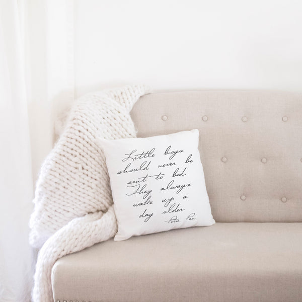 Peter Pan Quote Pillow Cover - Porter Lane Home