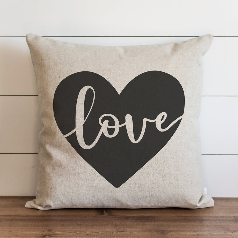 Love Heart {Gray} Pillow Cover. - Porter Lane Home