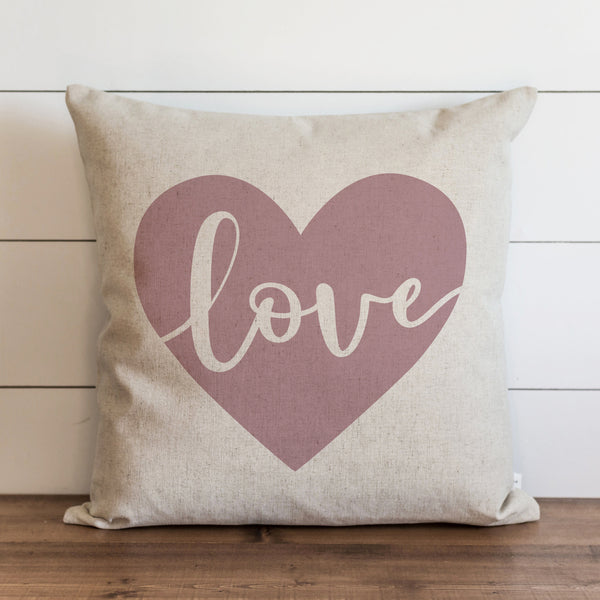 Love Heart {Mauve} Pillow Cover. - Porter Lane Home
