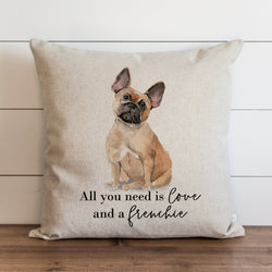Custom All You Need is Love and a {Dog} Pillow Cover. - Porter Lane Home