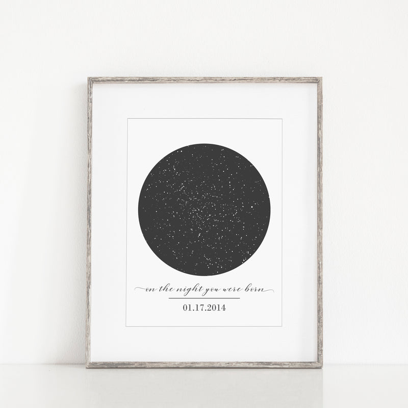 Personalized Star Map Print - Porter Lane Home