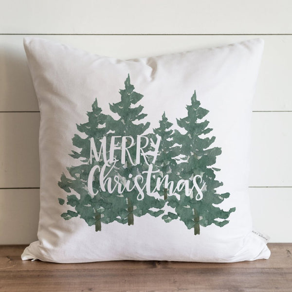 Merry Christmas Trees Pillow Cover. - Porter Lane Home