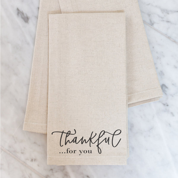 Thankful For You Napkin - Porter Lane Home