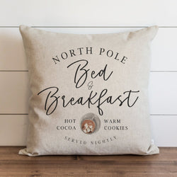 North Pole Bed & Breakfast Pillow Cover. - Porter Lane Home