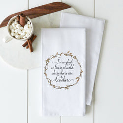 Octobers Tea Towel