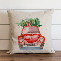 Christmas Car Pillow Cover. - Porter Lane Home