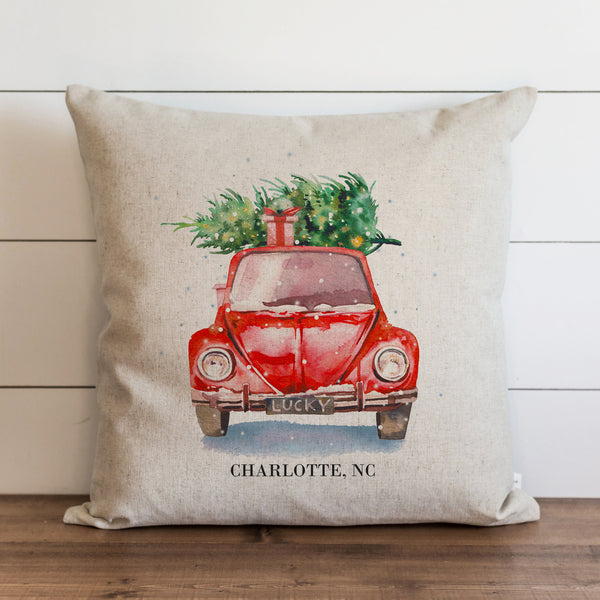 Christmas Car Custom Pillow Cover.