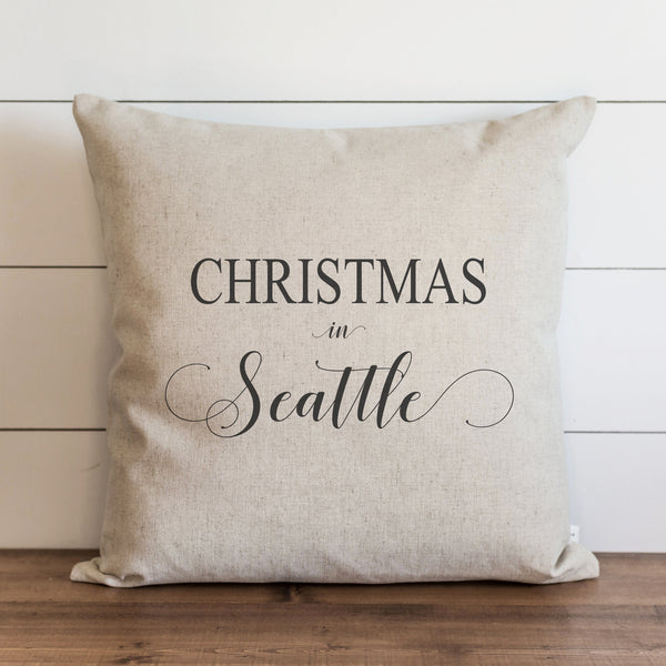 Christmas In Custom Pillow Cover. - Porter Lane Home