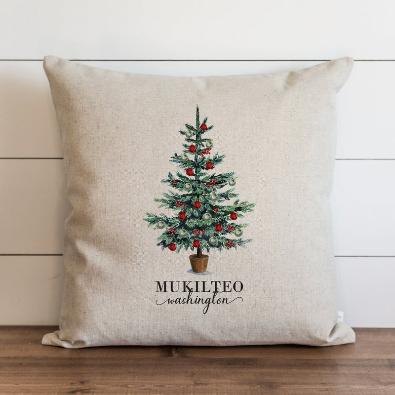 Christmas Tree Custom Pillow Cover. - Porter Lane Home