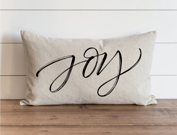 Joy Script Pillow Cover. - Porter Lane Home