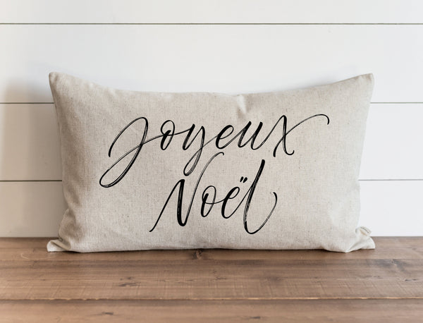 Joyeux Noel Script Pillow Cover. - Porter Lane Home