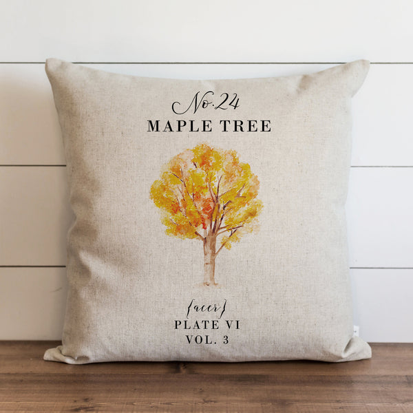 Botanical Maple Tree Pillow Cover - Porter Lane Home