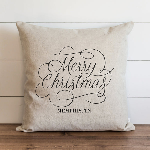 Merry Christmas Custom Pillow Cover. - Porter Lane Home