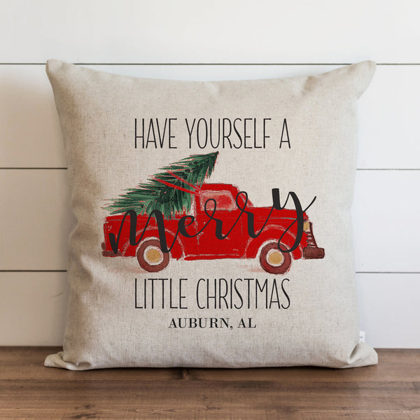 Merry Little Christmas Custom Pillow Cover.