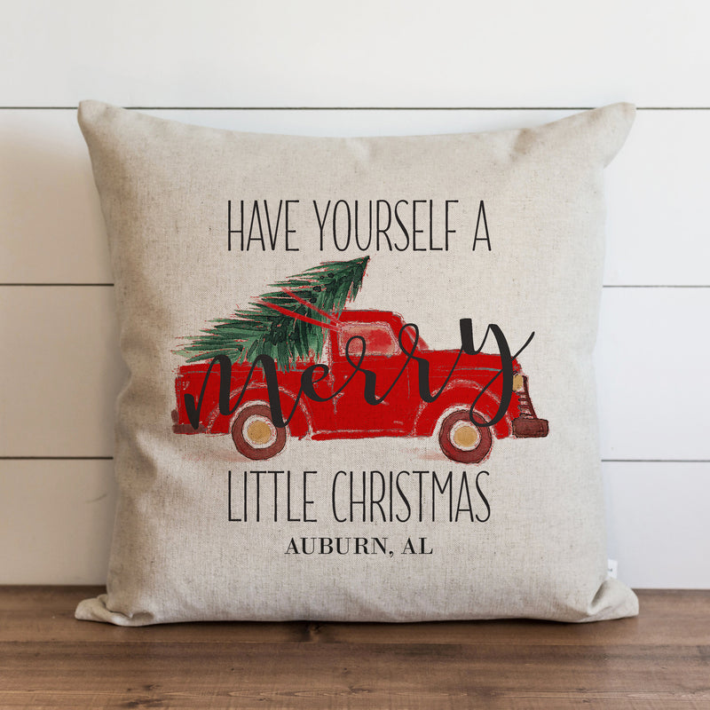 Merry Little Christmas Custom Pillow Cover. - Porter Lane Home