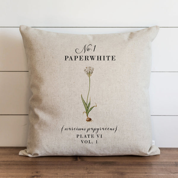 Paperwhite Pillow Cover.