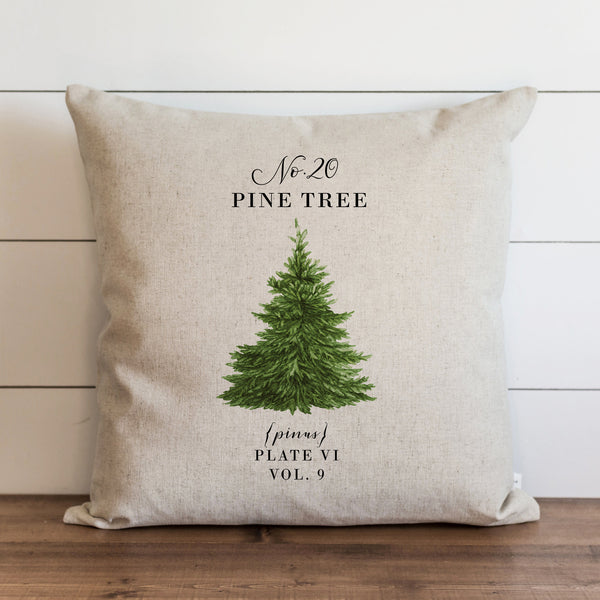Pine Tree Pillow Cover.