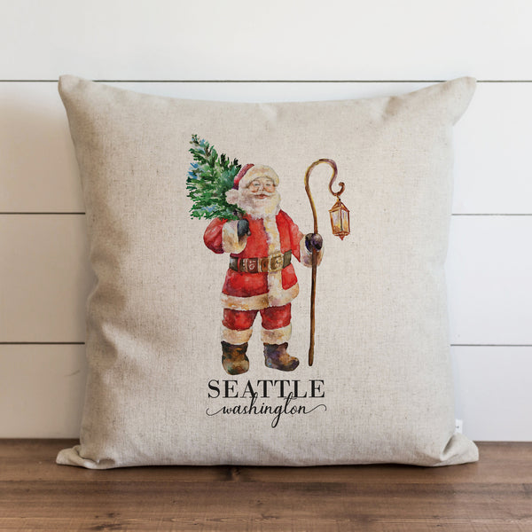 Santa {Custom Location} Pillow Cover. - Porter Lane Home