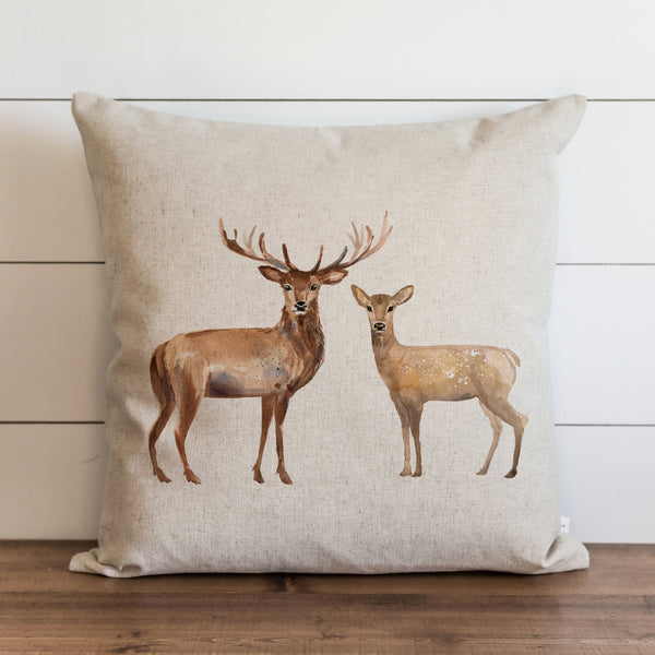 Stag And Doe Pillow Cover. - Porter Lane Home