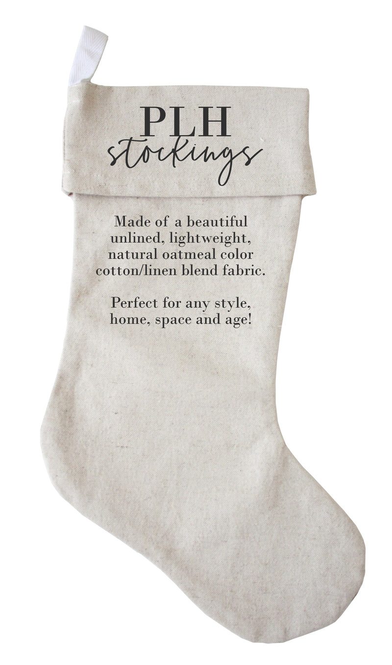 Personalized Christmas Stocking {4 font styles} - Porter Lane Home