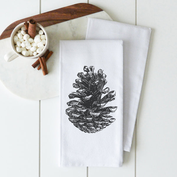 Pine Cone Tea Towel