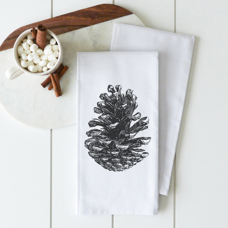 Pine Cone Tea Towel - Porter Lane Home