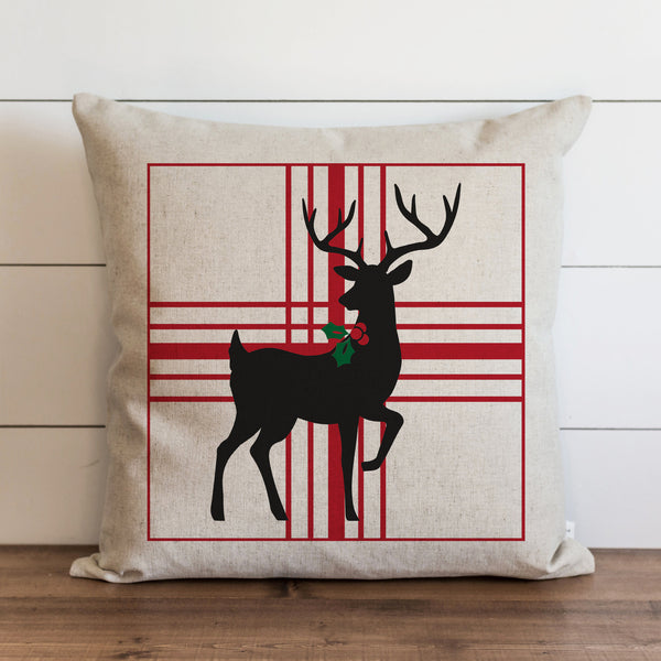 Reindeer Plaid Pillow Cover. - Porter Lane Home