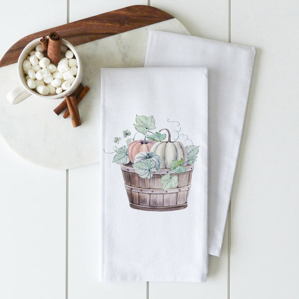 Pumpkin Basket Tea Towel - Porter Lane Home