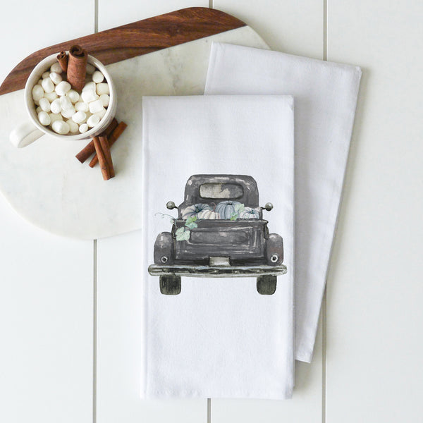 Pumpkin Truck Tea Towel {Style 2} - Porter Lane Home