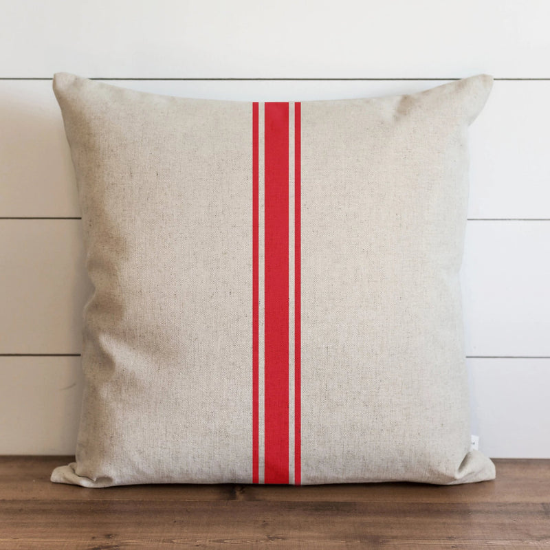 Clearance!!!! Red Grain Stripe Pillow Cover. - Porter Lane Home