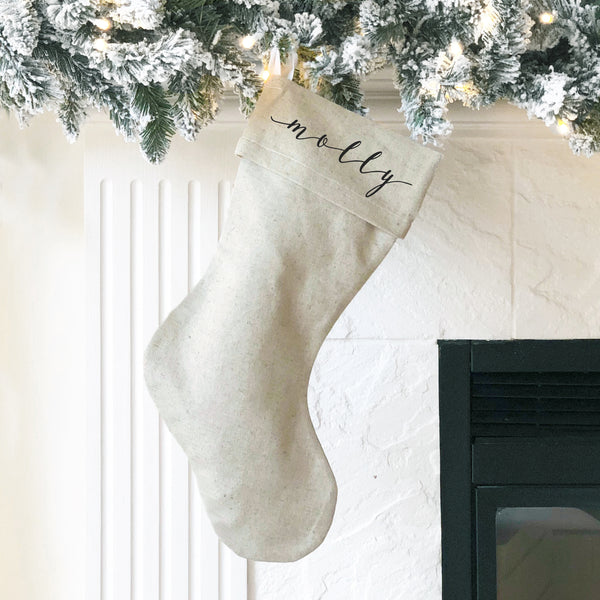 Personalized Christmas Stocking {4 font styles}