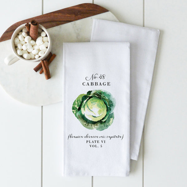 Botanical Cabbage Tea Towel - Porter Lane Home
