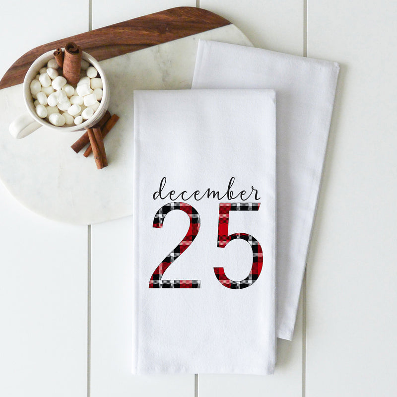 December 25 Tea Towel