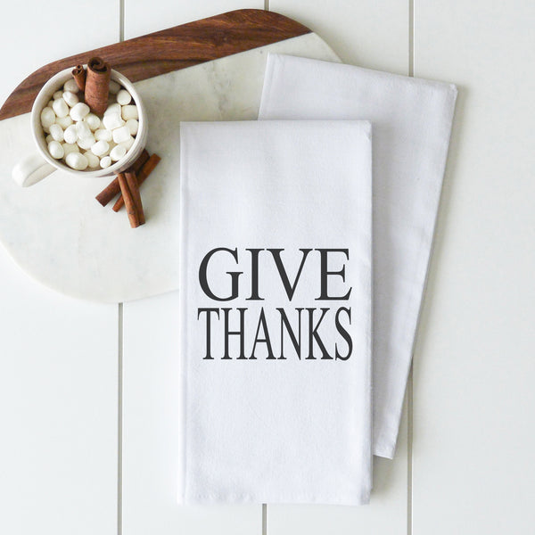 Give Thanks Tea Towel - Porter Lane Home