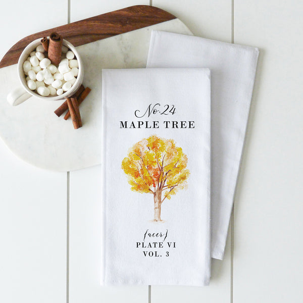 Botanical Maple Tree Tea Towel - Porter Lane Home