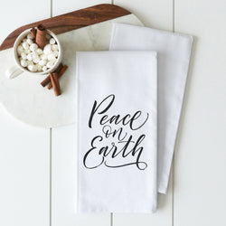 Peace On Earth Tea Towel