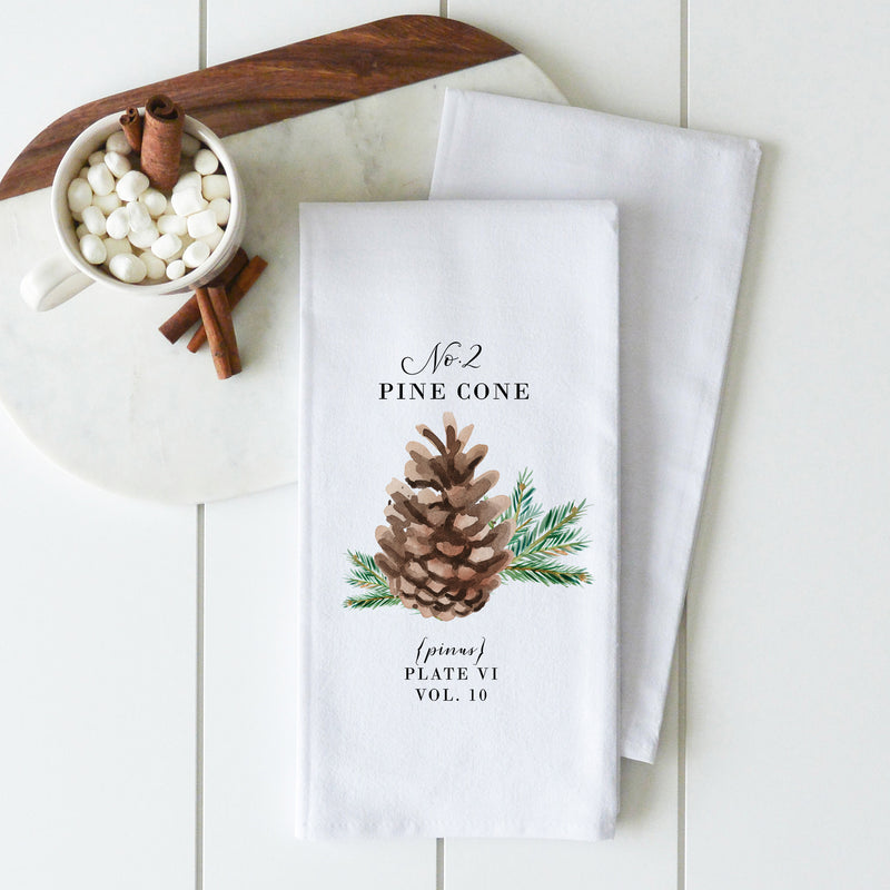 Pine Cone 2 Tea Towel