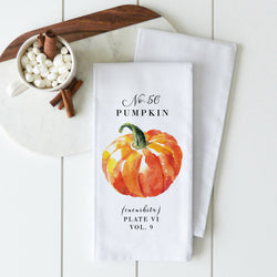 Botanical Pumpkin Tea Towel