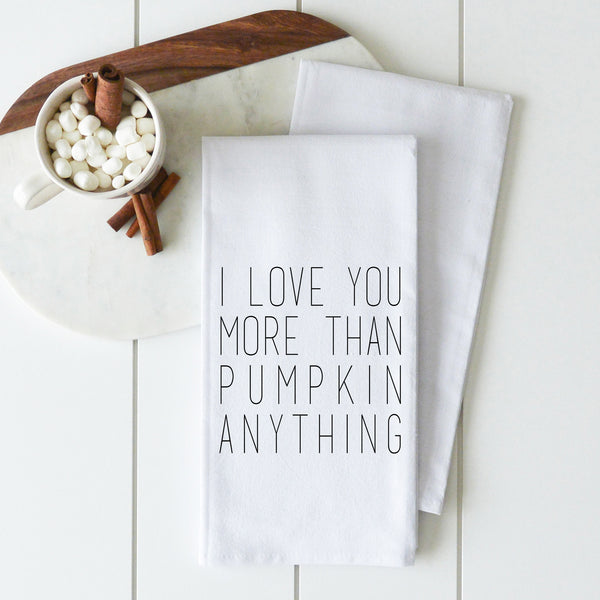 Pumpkin Anything Tea Towel