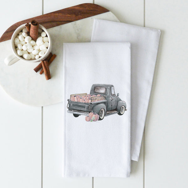 Pumpkin Truck Tea Towel