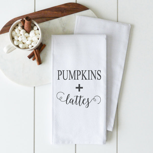Pumpkins + Lattes Tea Towel