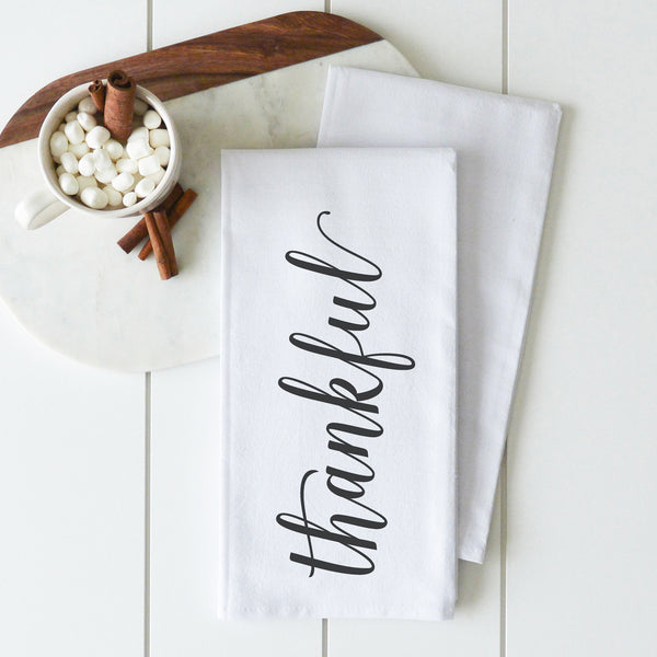 Thankful Tea Towel - Porter Lane Home