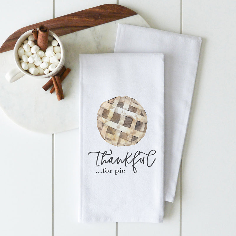Thankful For Pie Tea Towel