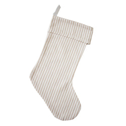 Ticking Stripe Christmas Stocking - Porter Lane Home